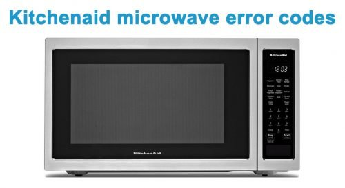 Kitchenaid microwave error codes