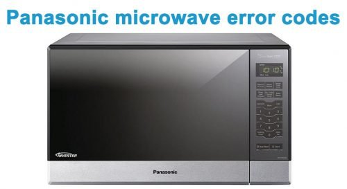 Panasonic microwave error codes