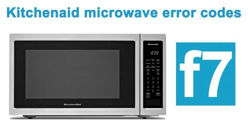 Kitchenaid microwave error code f7