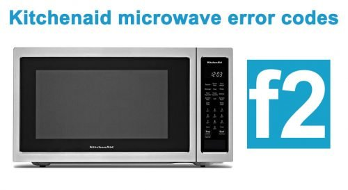 Kitchenaid microwave f2 error code